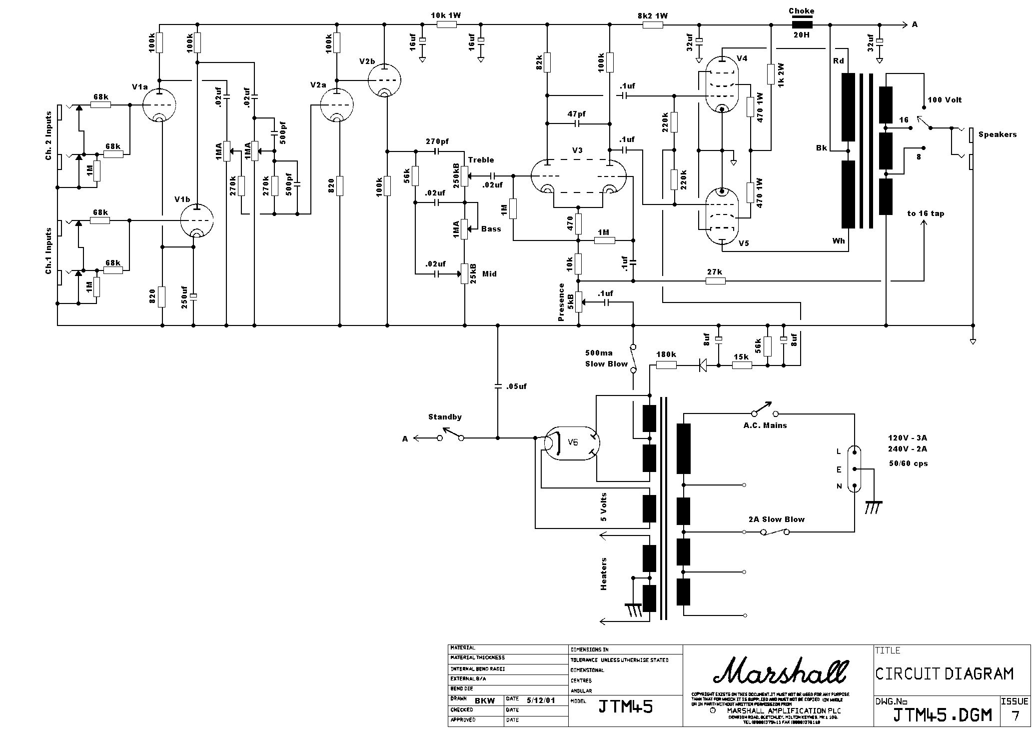 Marshall Wiring Diagram Schematic Diagrams 1960a Jtm 45 Enthusiast U2022 Rh Rasalibre Co Footswitch